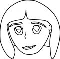 Face Outline Girls Face Clip Art Coloring Page
