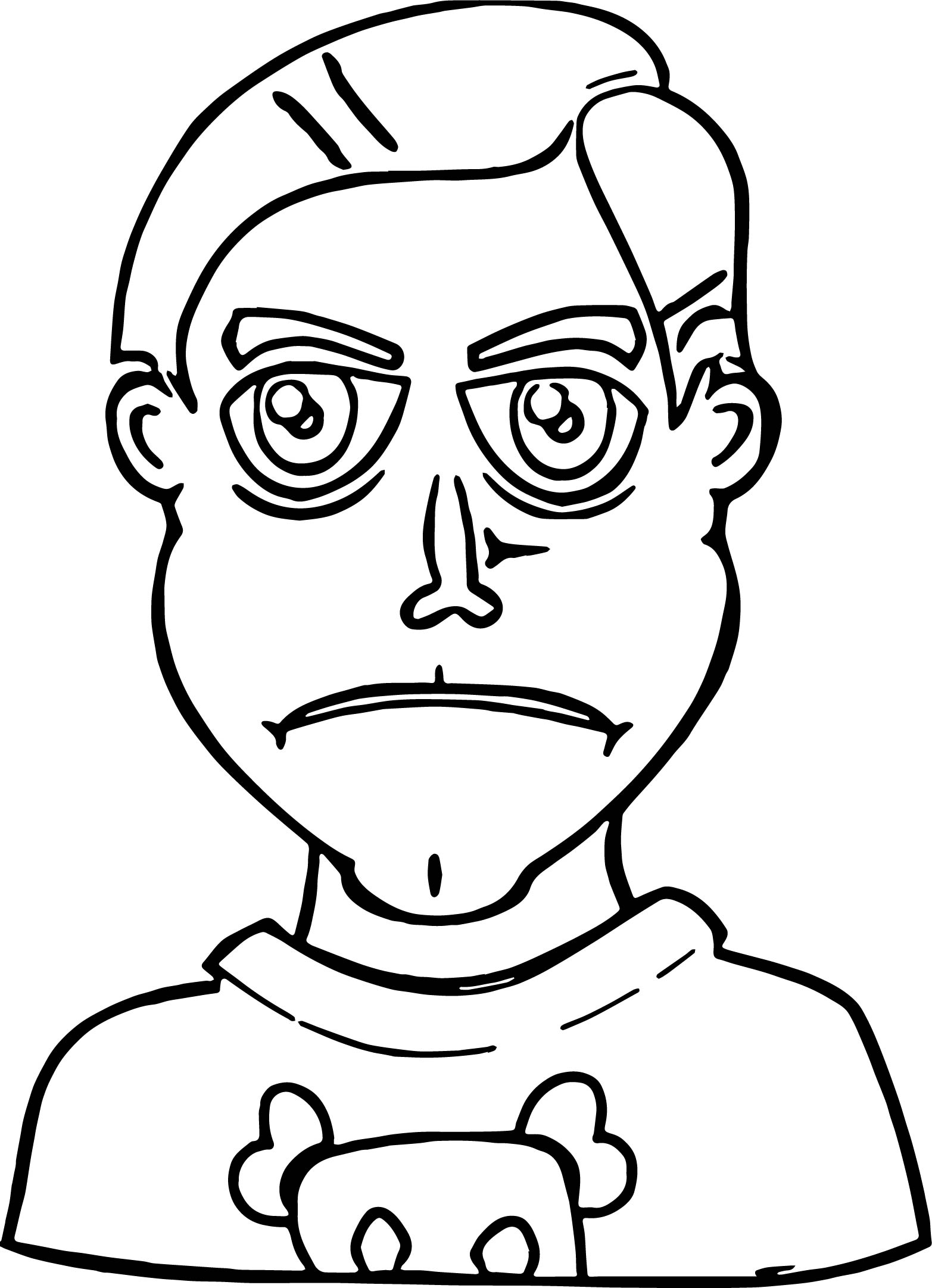Face People Faces Kid Clip Art Coloring Page