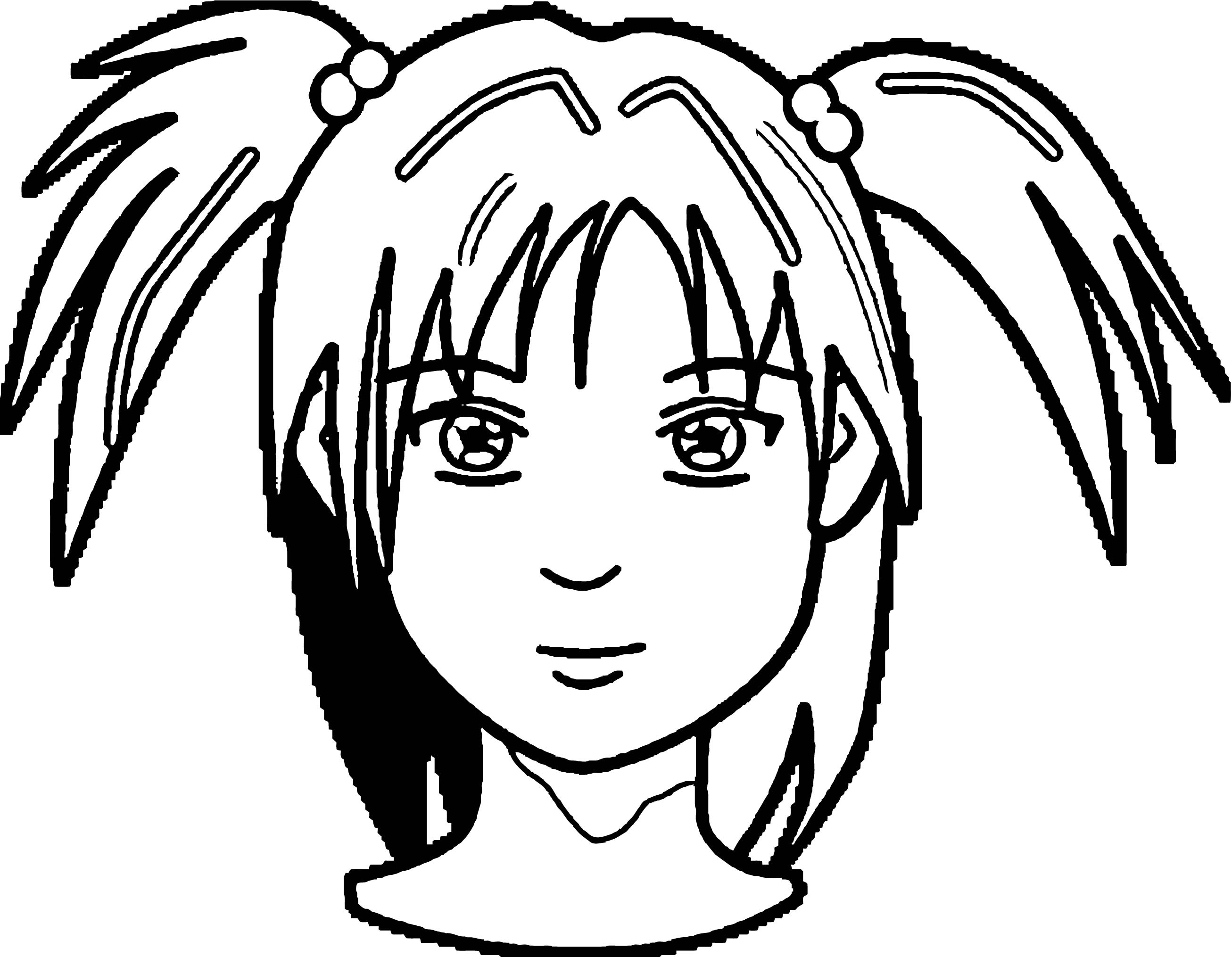 Face Pngmedium Girl Face Coloring Page