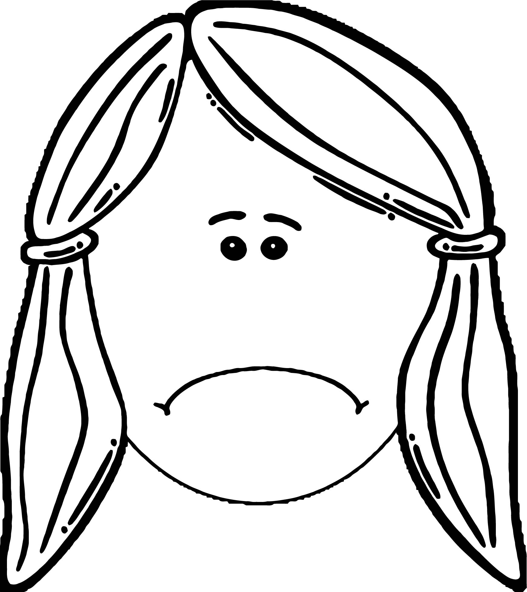 Face Predisposition Sad Face Coloring Page