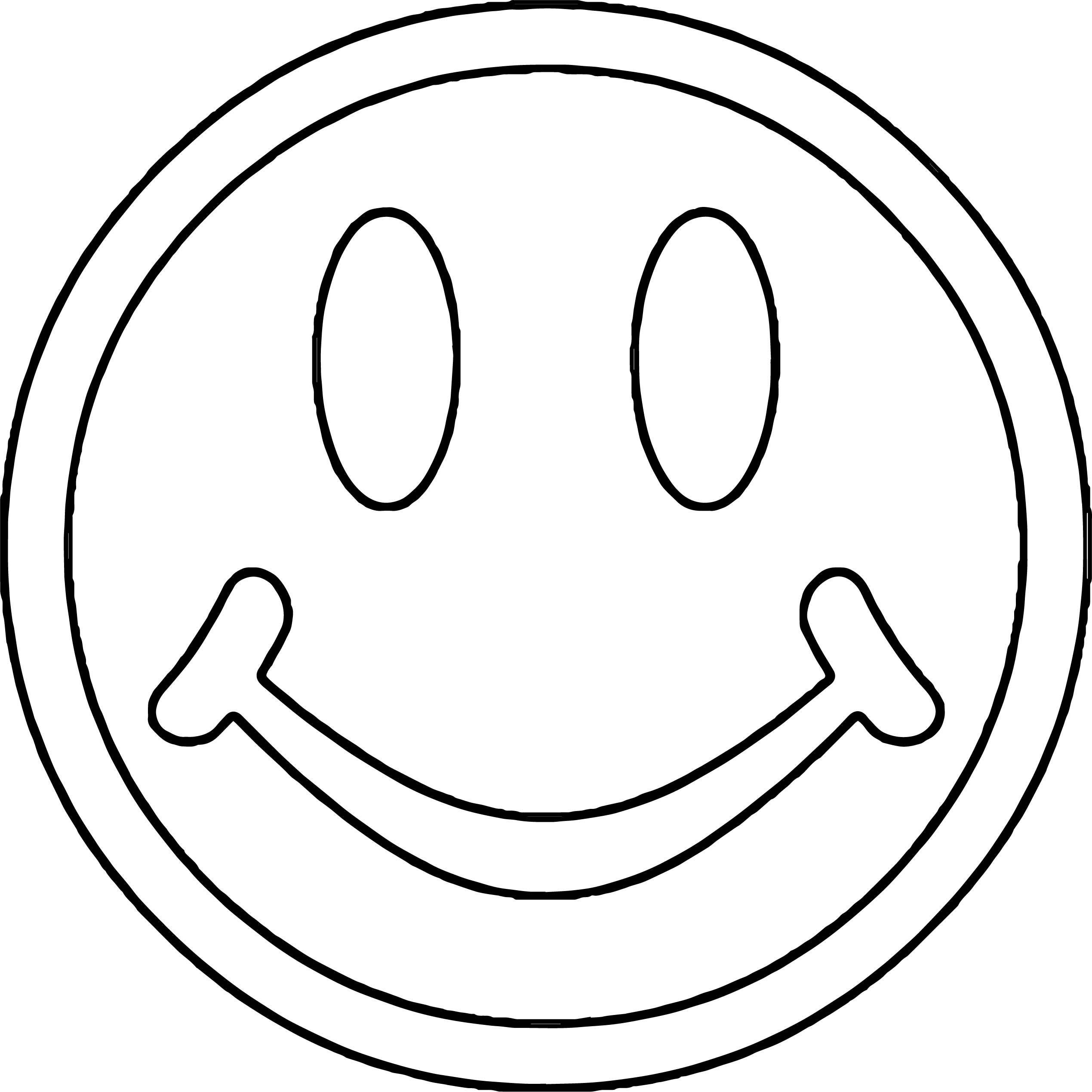 Face Smile Face 1 Coloring Page