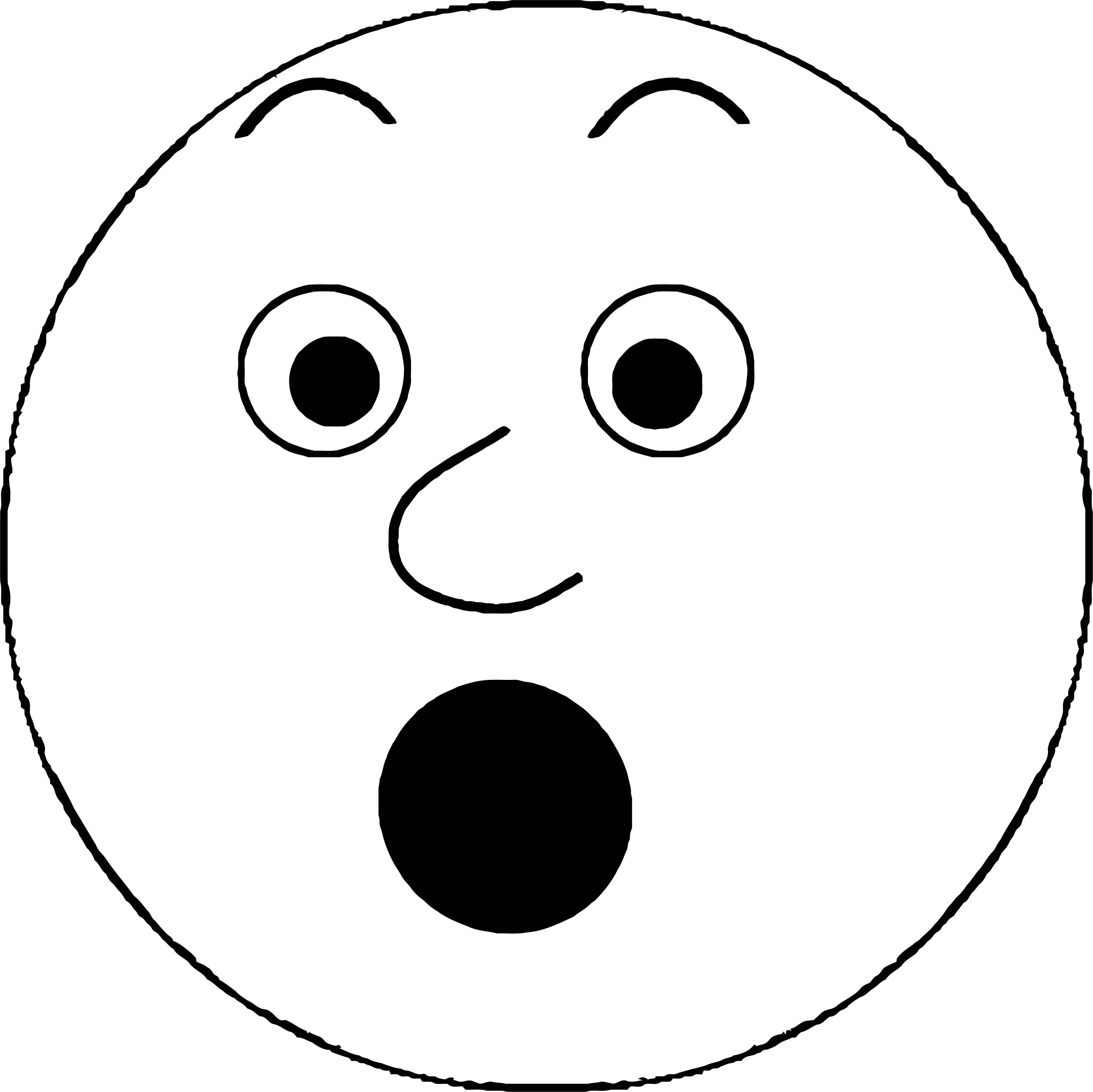 Face Smiley Face 2 Coloring Page