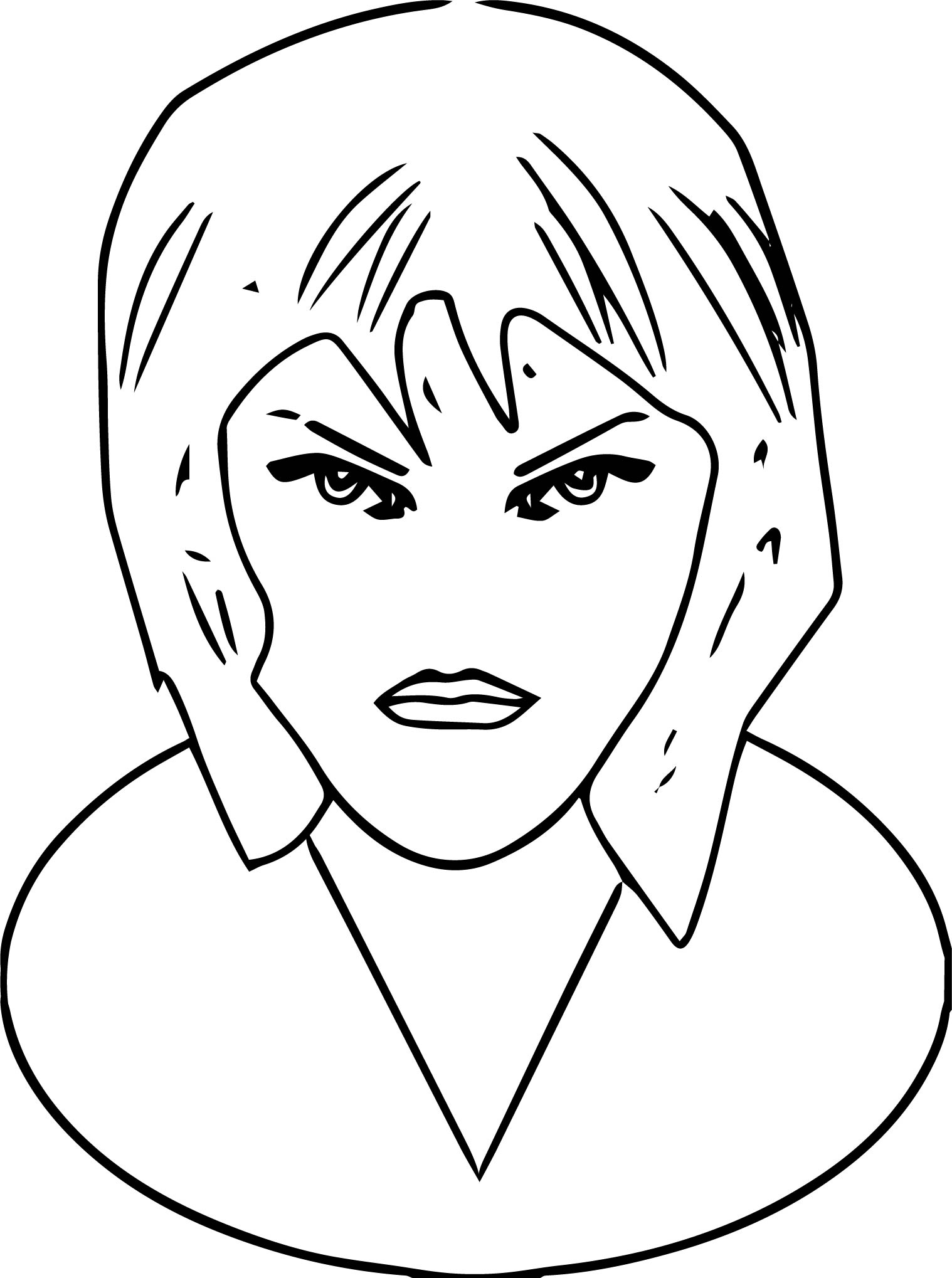 Face Woman Coloring Page