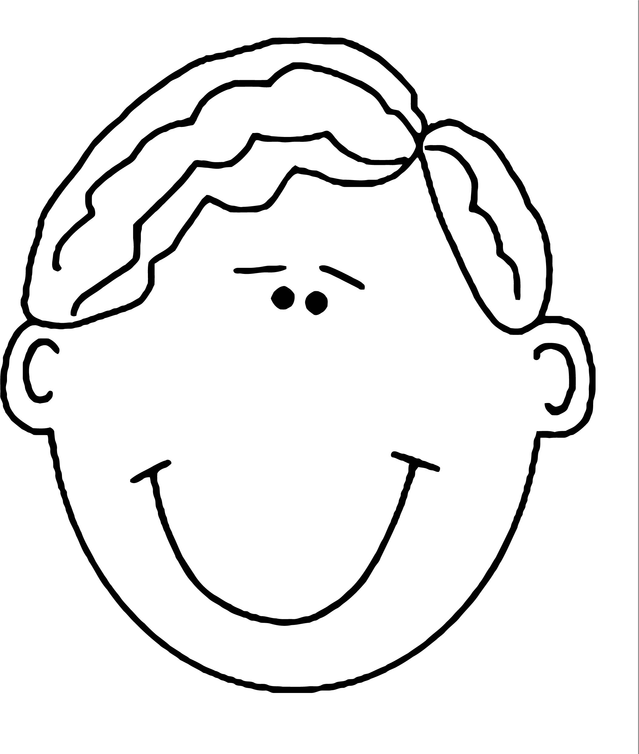 Face World Label Man Face Coloring Page Coloring Page