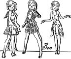 Female Character Design 01 Benseigneur D6802bl Cartoonize Coloring Page