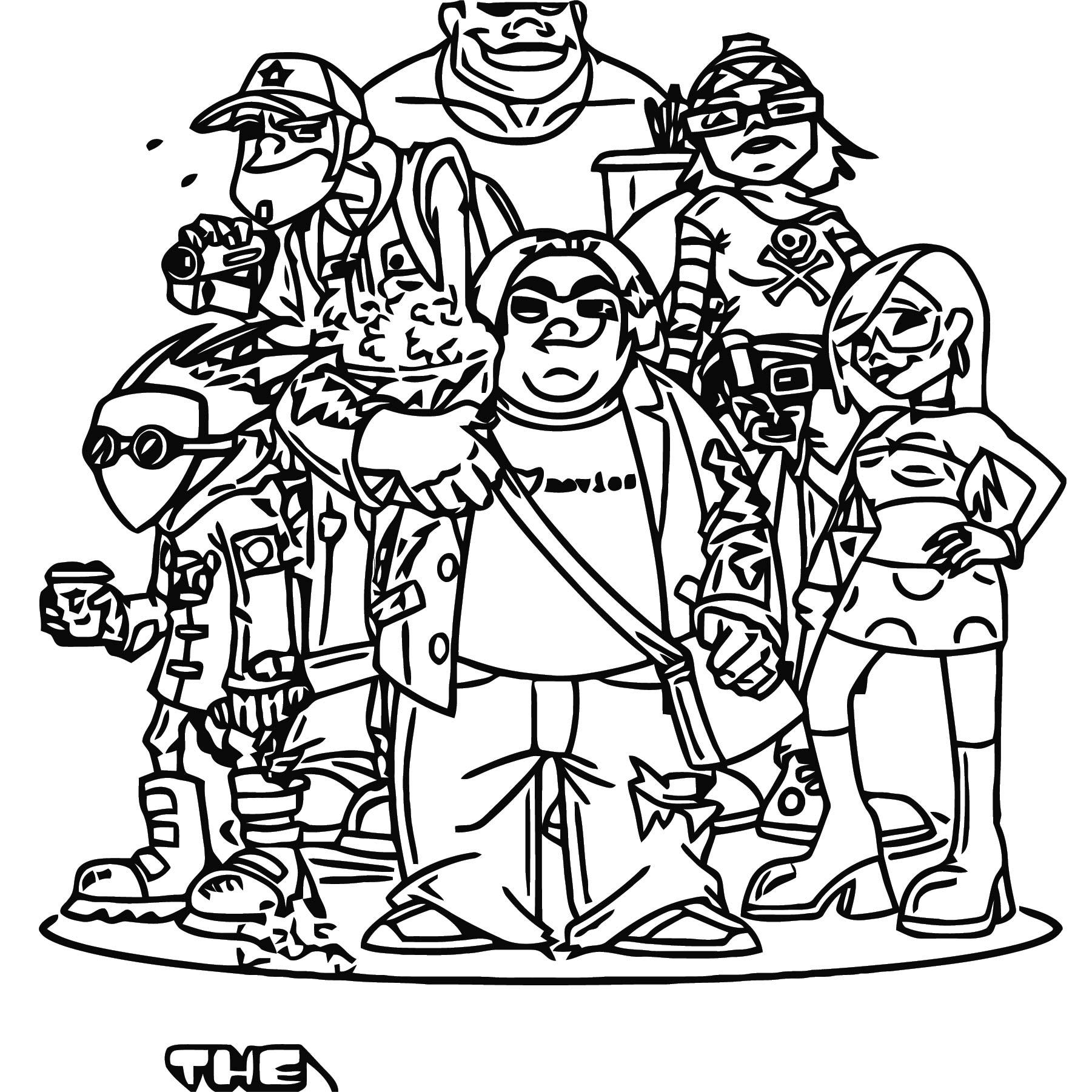 Film Squad 660x660 Cartoonize Coloring Page