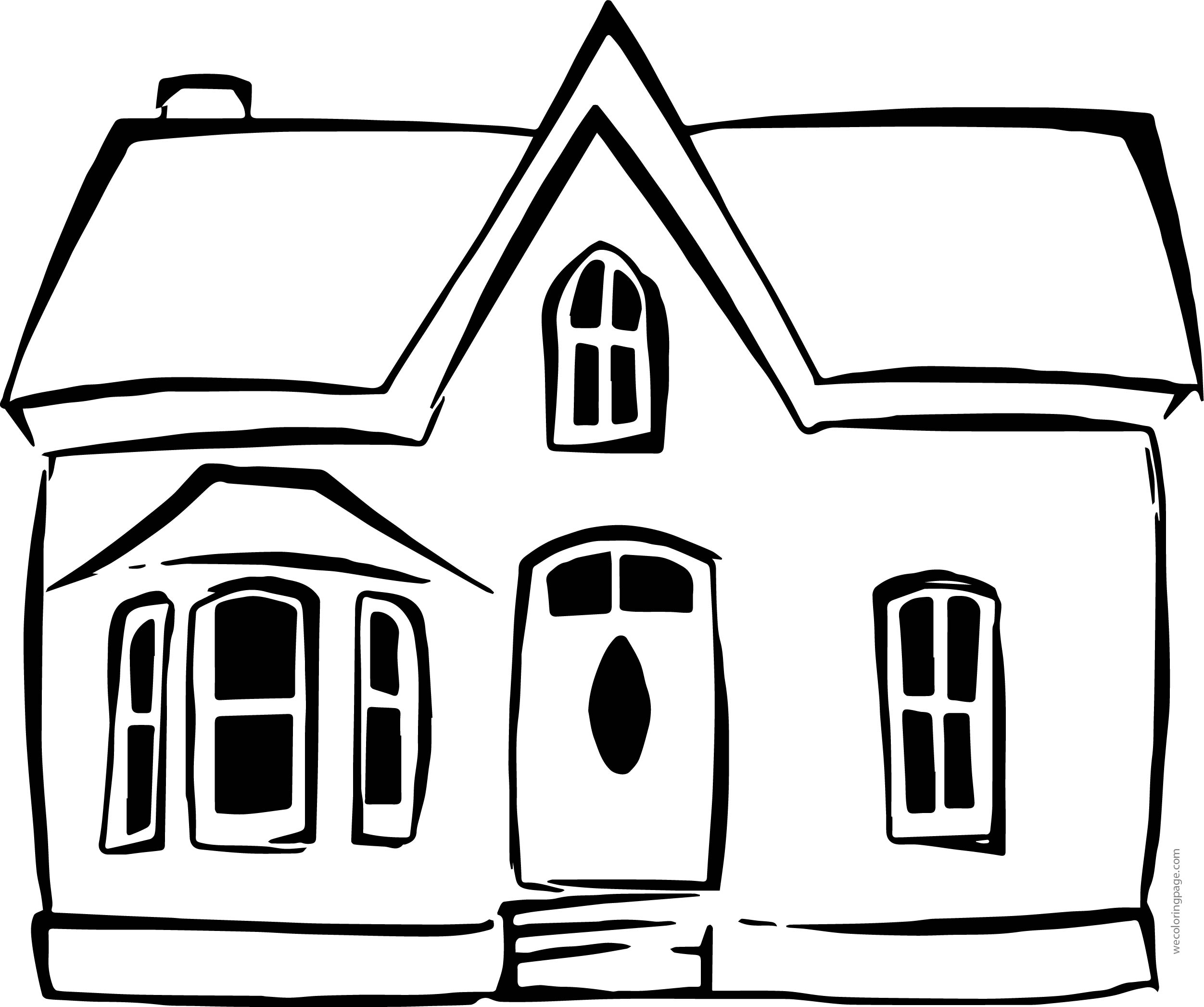 Free House One Coloring Page