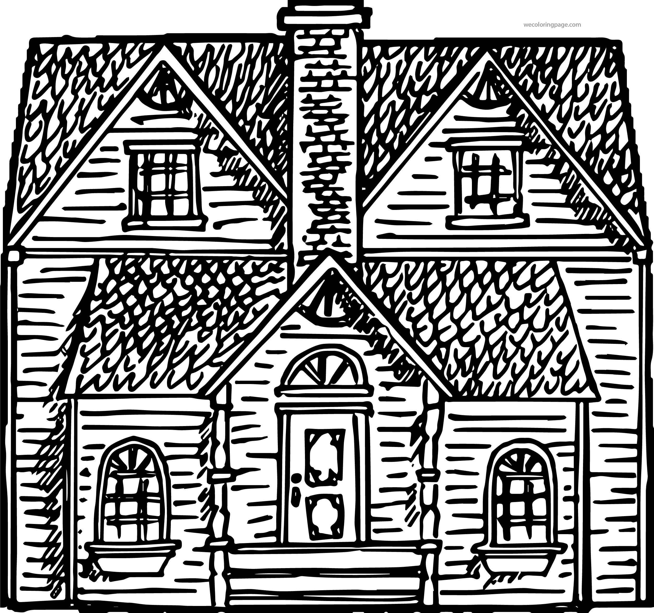 Free Vector Victorian House Coloring Page