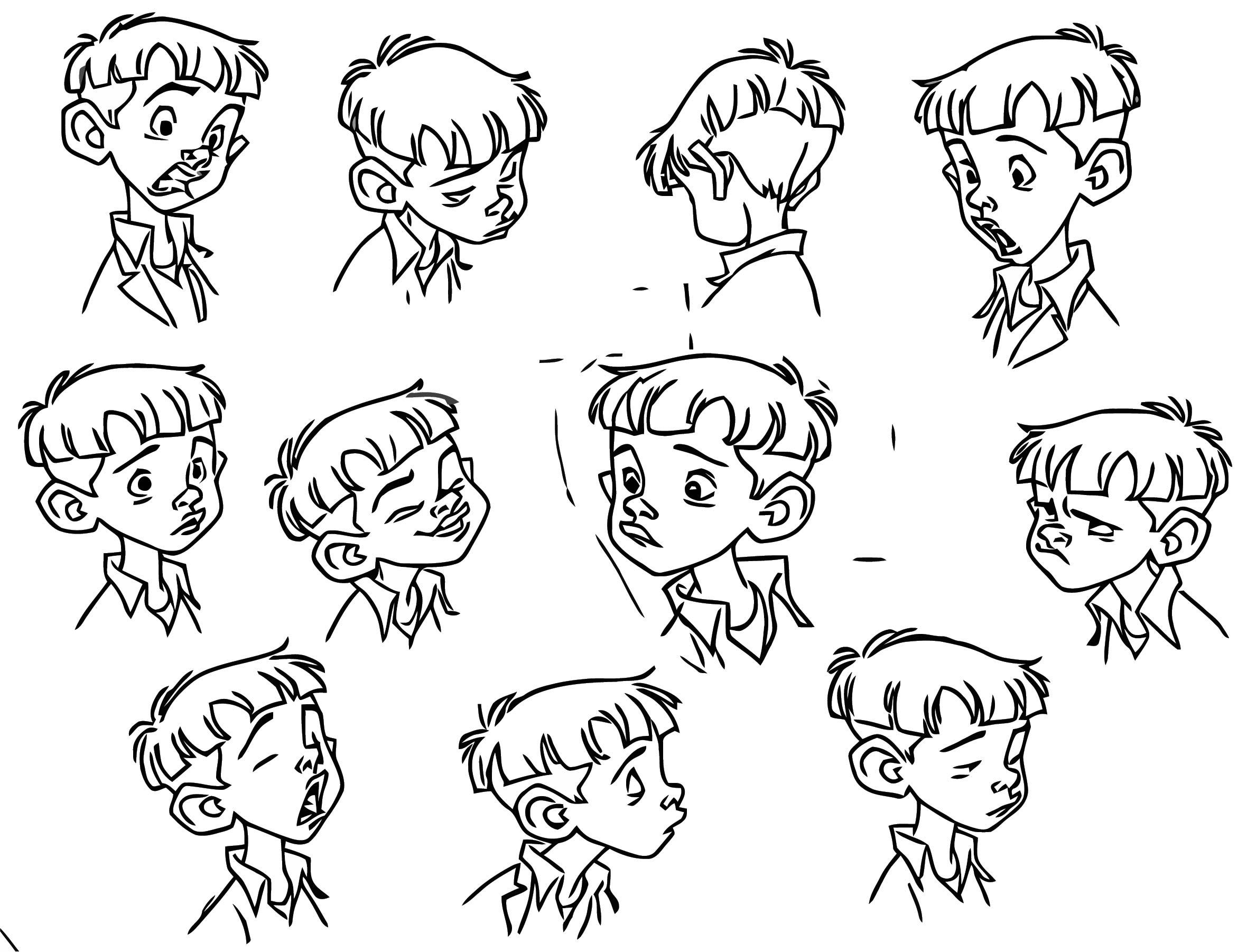 G4 Nino Expresiones 1 Cartoonize Coloring Page