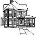 Gingerbread House Coloring Page 214145001