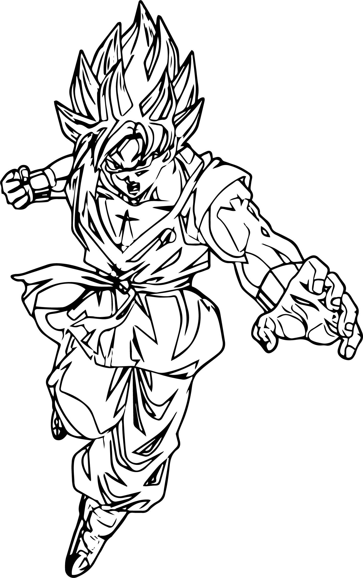 Goku We Coloring Page 037