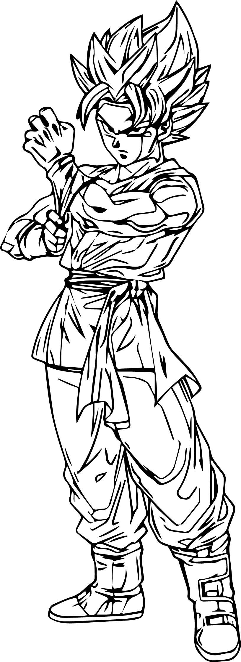 Goku We Coloring Page 038