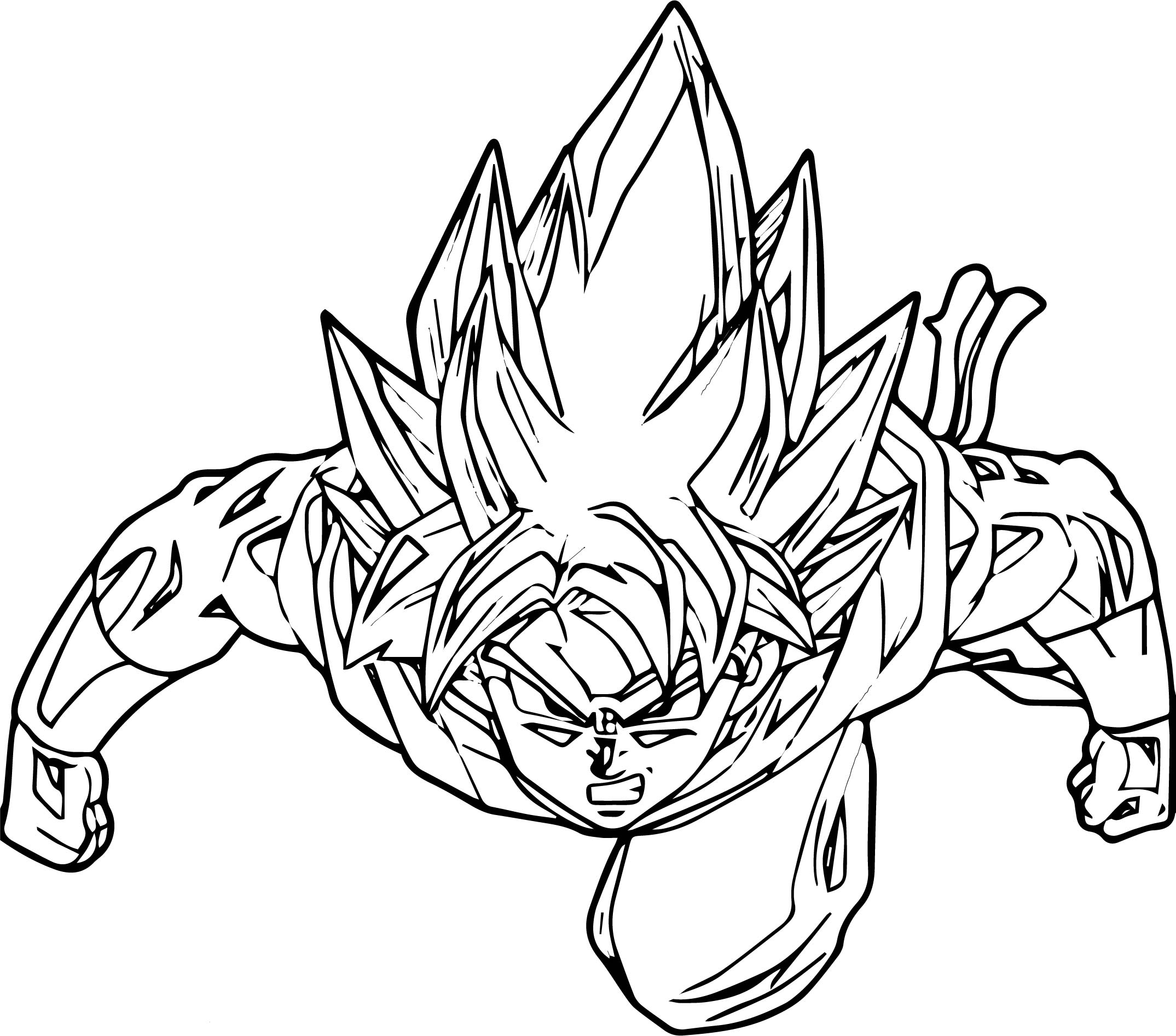 Goku We Coloring Page 039