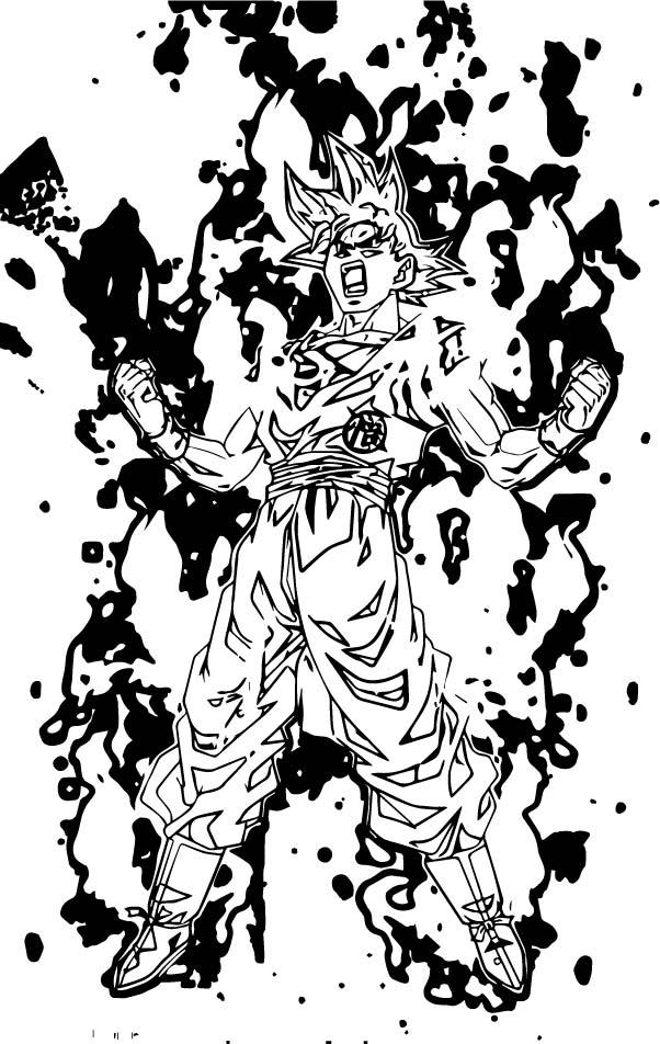 Goku We Coloring Page 041