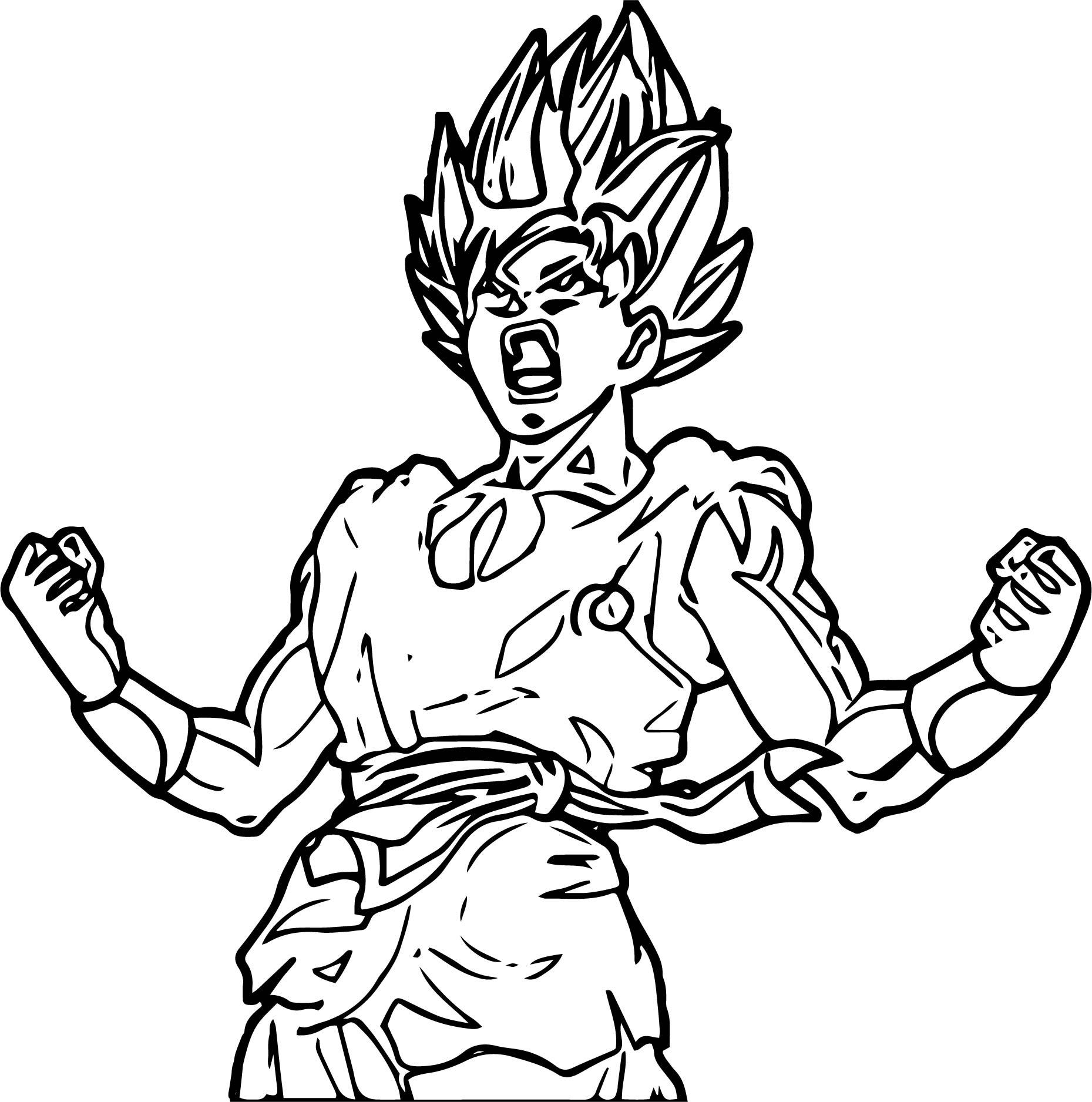Goku We Coloring Page 042