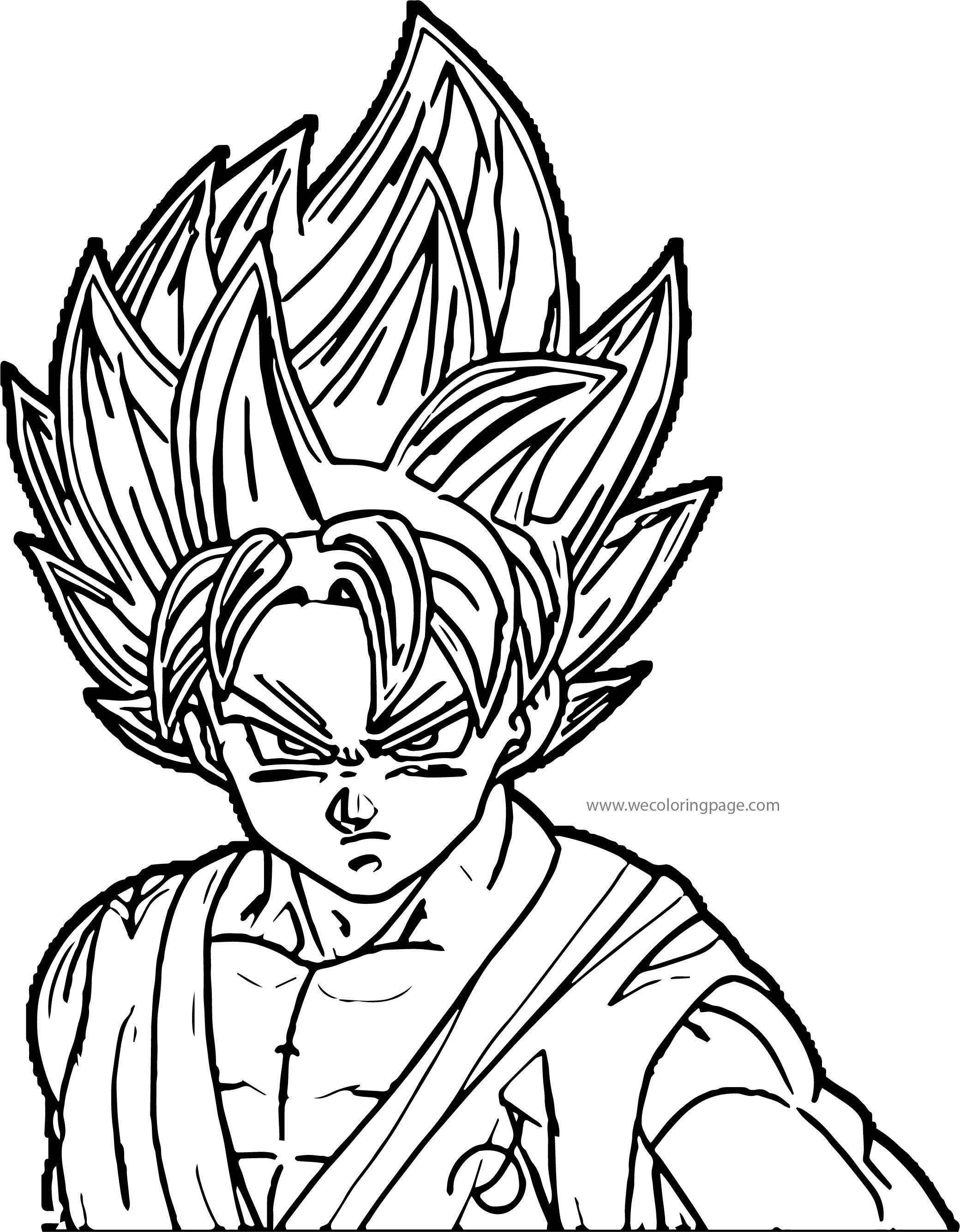 Goku We Coloring Page 043