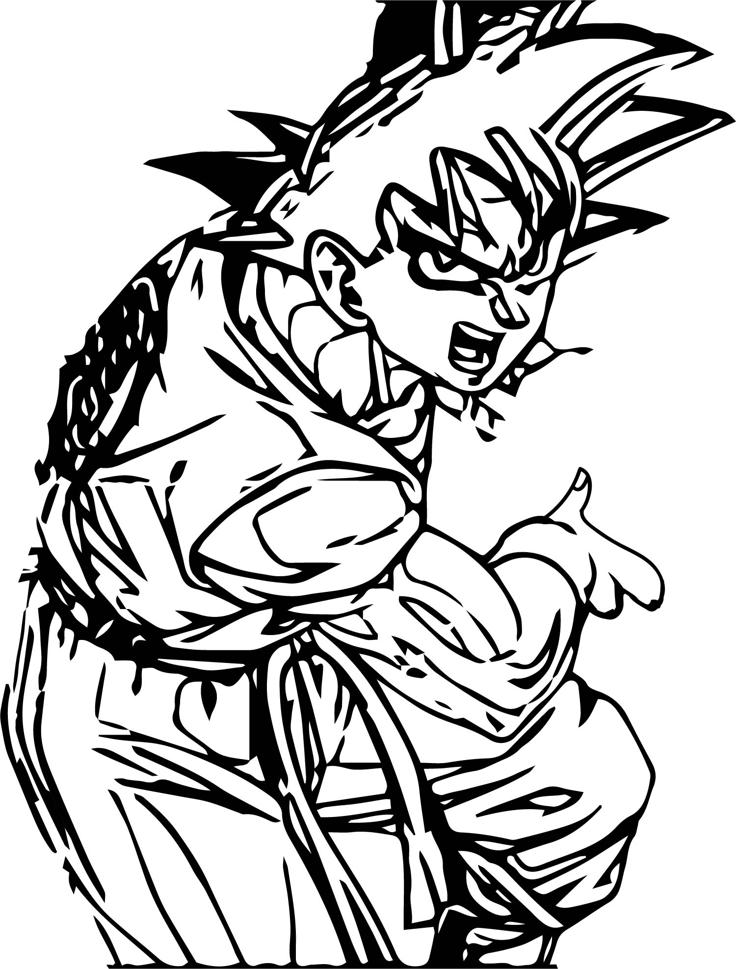 Goku We Coloring Page 045