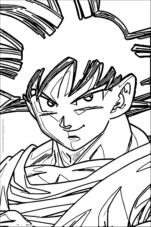 Goku We Coloring Page 048