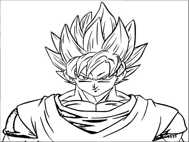 Goku We Coloring Page 050
