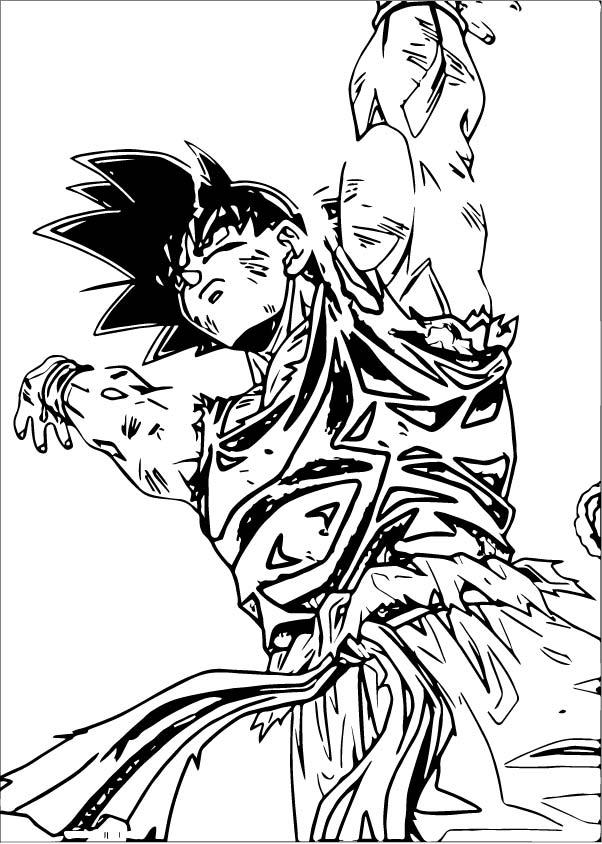 Goku We Coloring Page 054