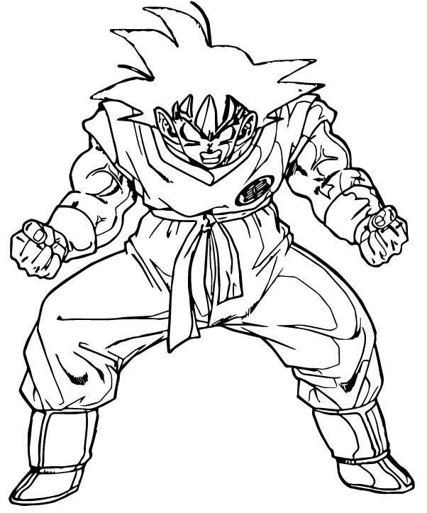 Goku We Coloring Page 055