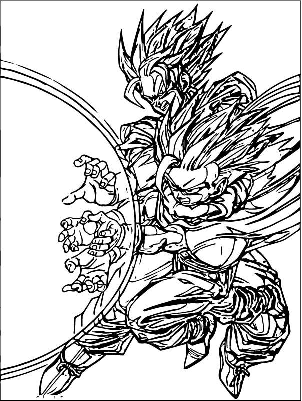 Goku We Coloring Page 057