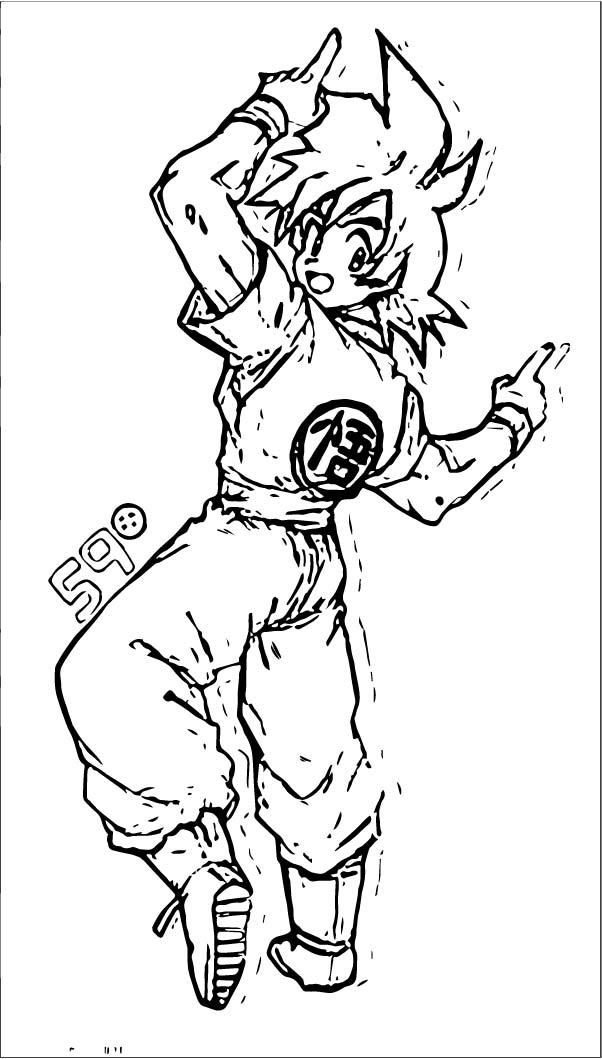 Goku We Coloring Page 059