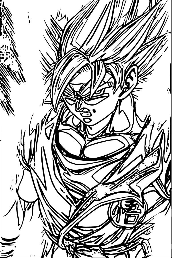 Goku We Coloring Page 066