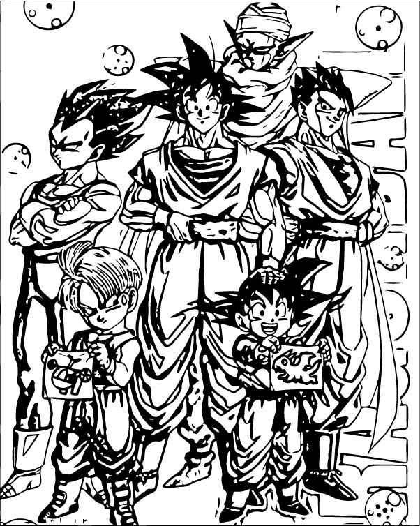 Goku We Coloring Page 070