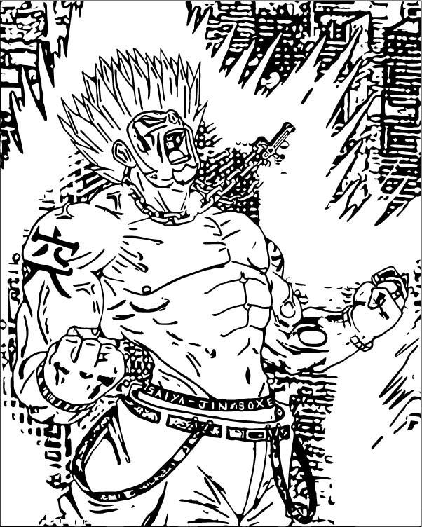 Goku We Coloring Page 071