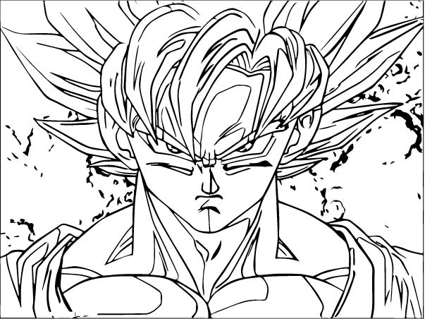 Goku We Coloring Page 073