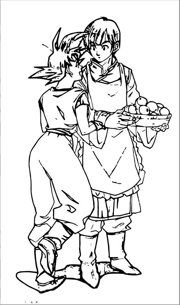 Goku We Coloring Page 074