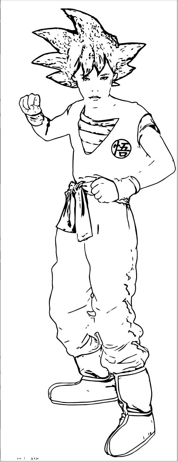 Goku We Coloring Page 077