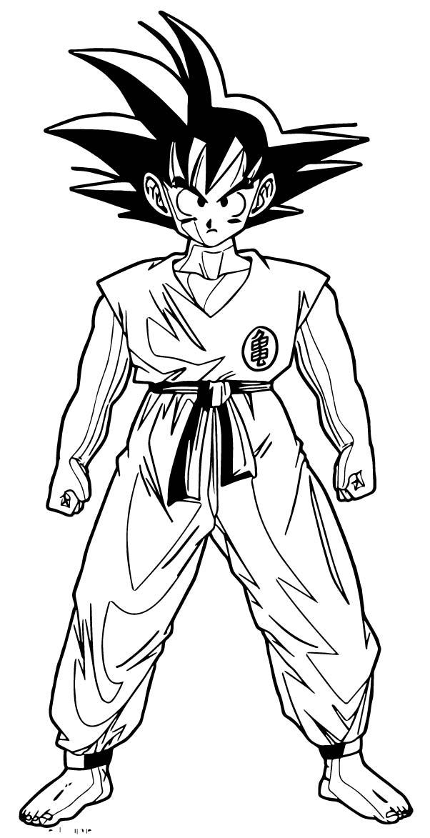 Goku We Coloring Page 080
