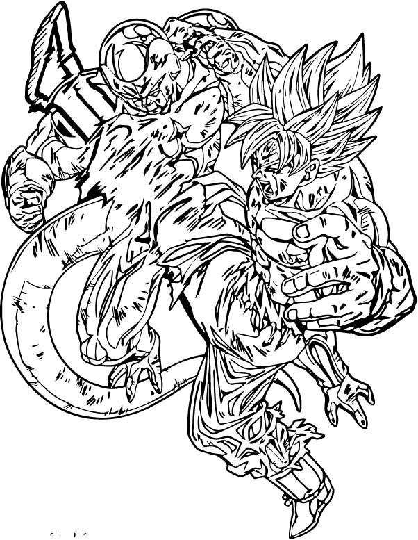 Goku We Coloring Page 081
