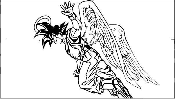 Goku We Coloring Page 083