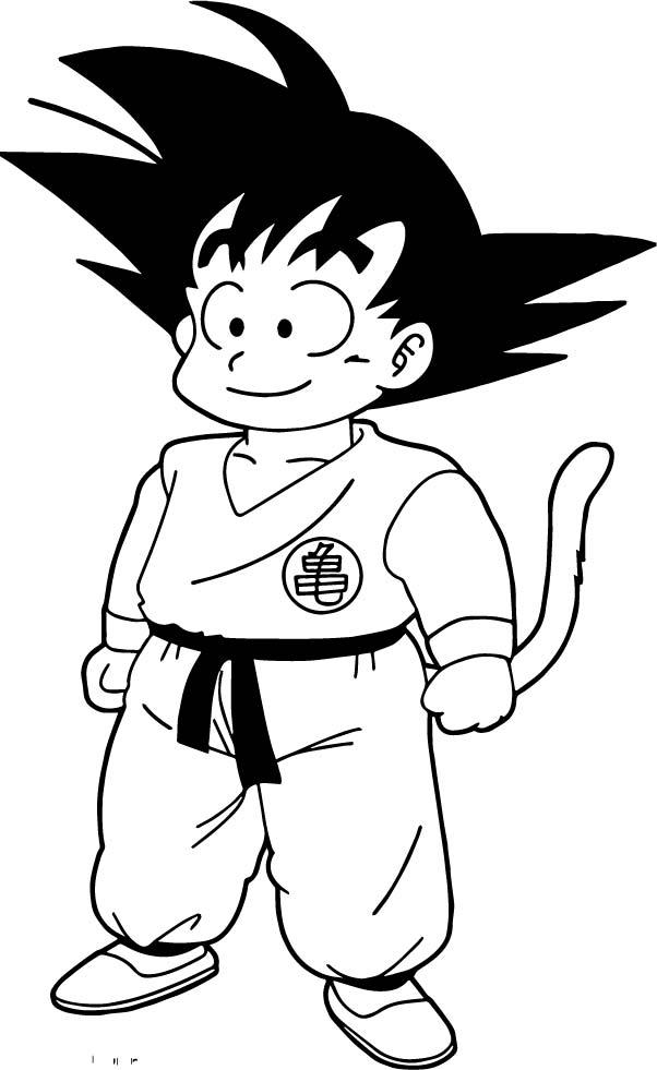 Goku We Coloring Page 084