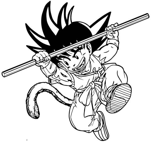 Goku We Coloring Page 085