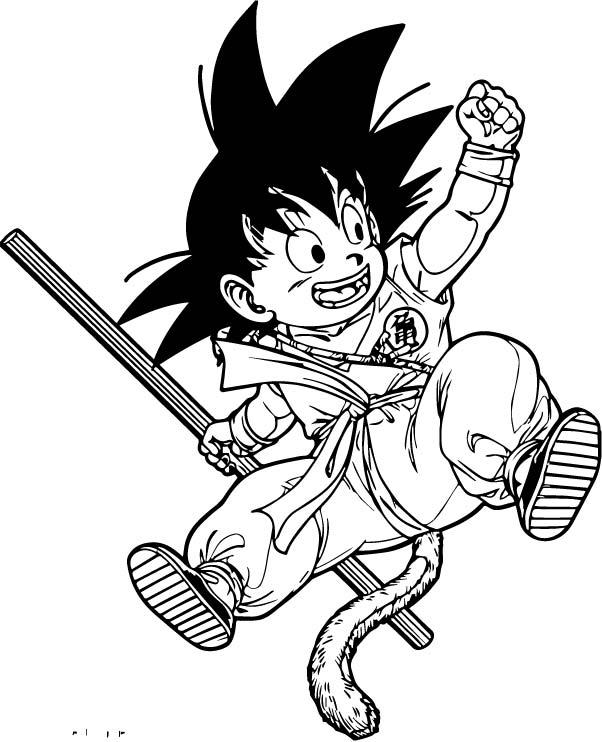 Goku We Coloring Page 086