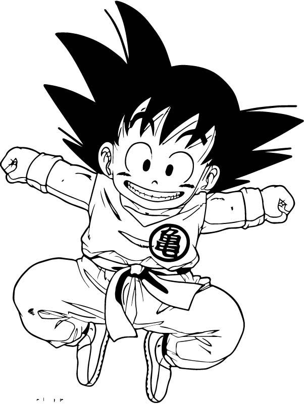 Goku We Coloring Page 087