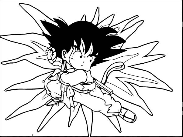 Goku We Coloring Page 088