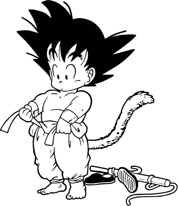 Goku We Coloring Page 090