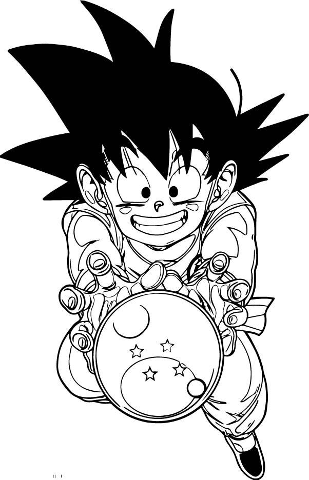 Goku We Coloring Page 092