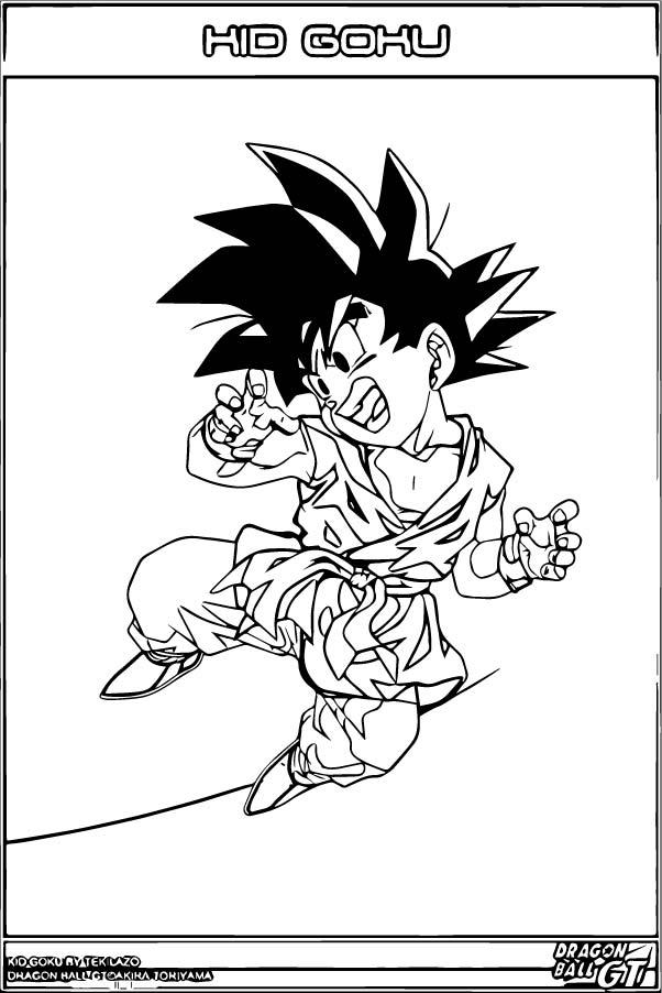 Goku We Coloring Page 093