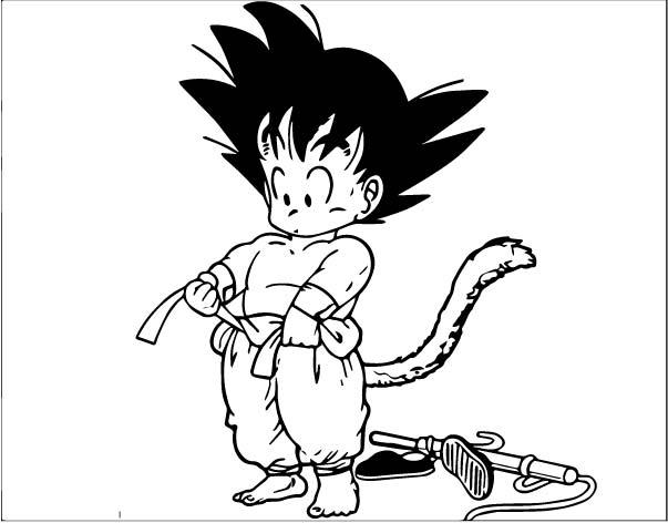 Goku We Coloring Page 095