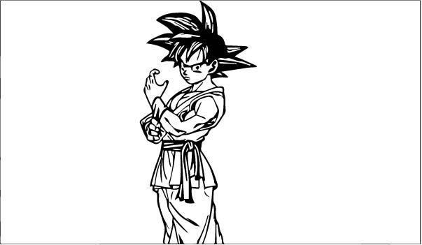 Goku We Coloring Page 097