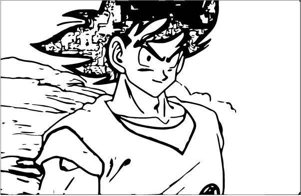 Goku We Coloring Page 099