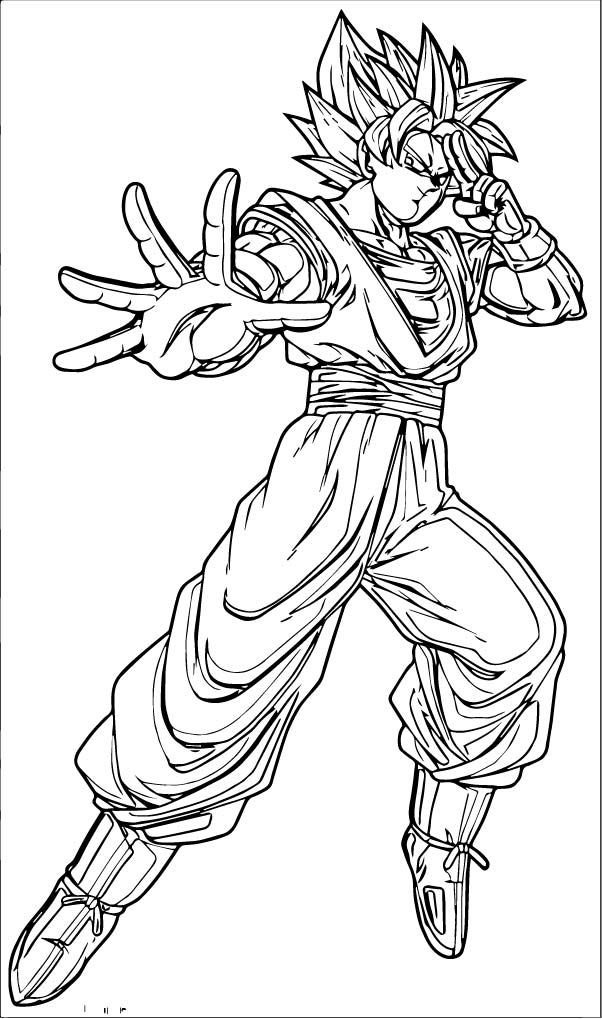 Goku We Coloring Page 129