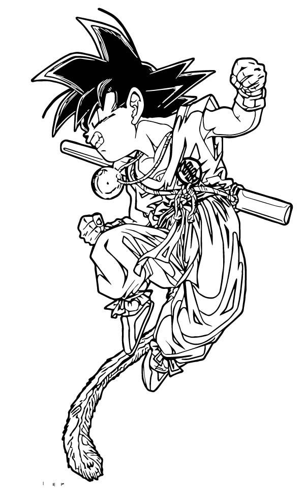 Goku We Coloring Page 158