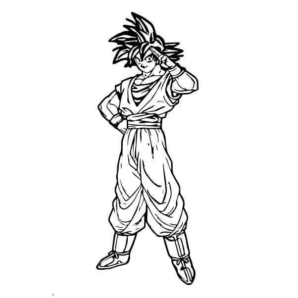 Goku We Coloring Page 159